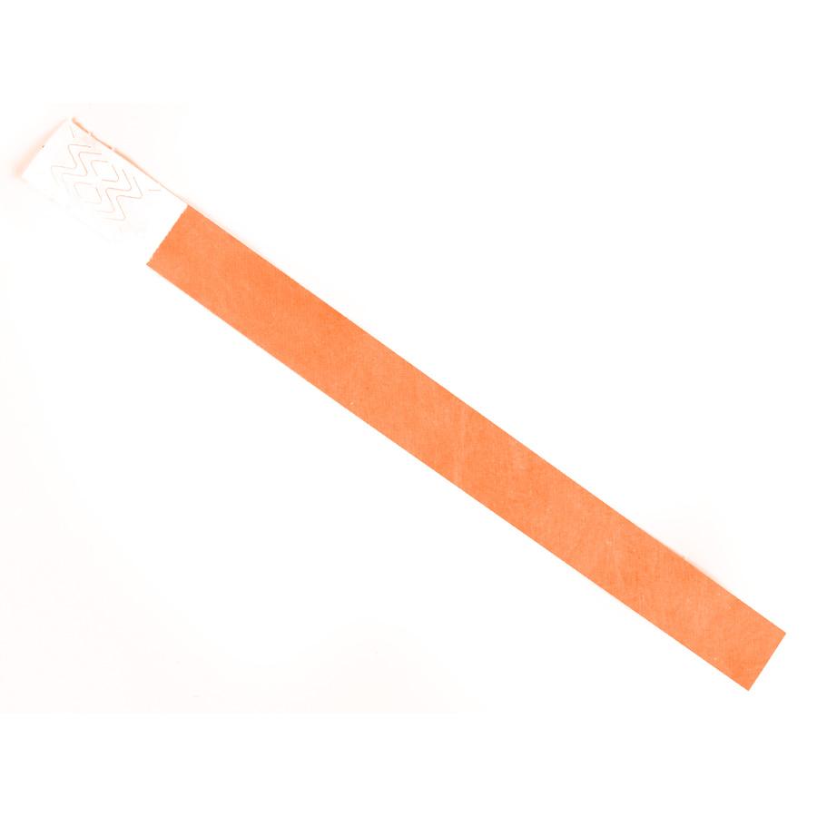 Pulseira De Identificação Tyvek Laranja ( Pacote Com 10 Un )