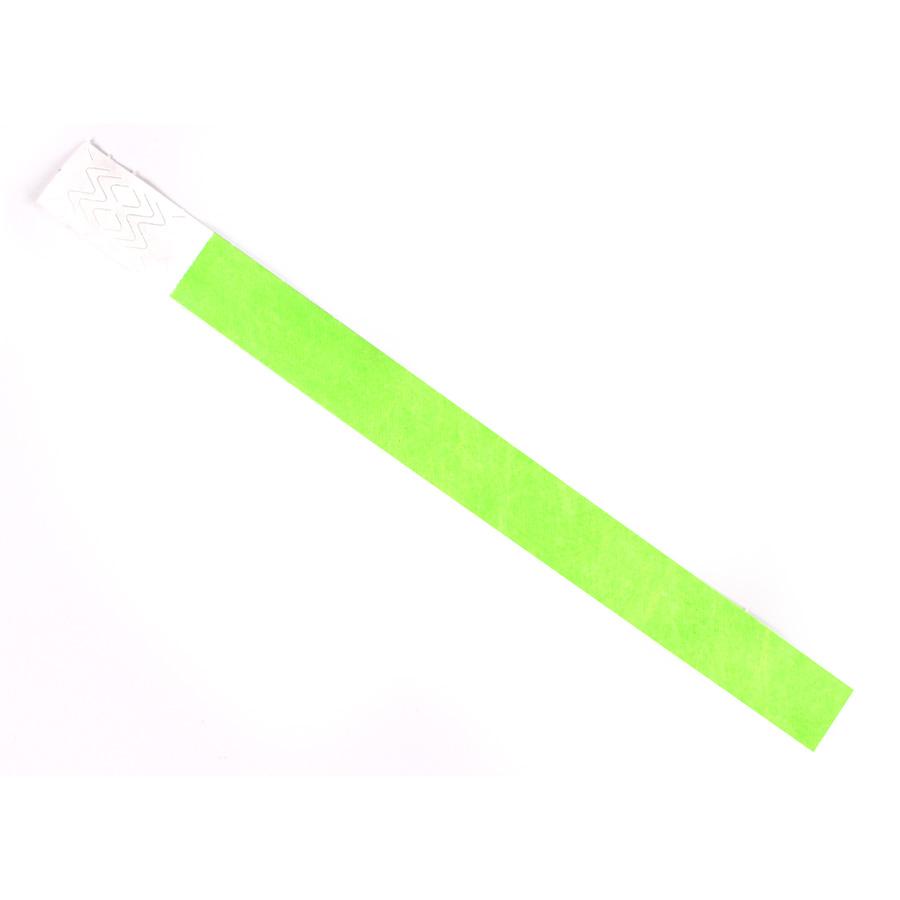 Pulseira De Identificação Tyvek Verde ( Pacote Com 10 Un )