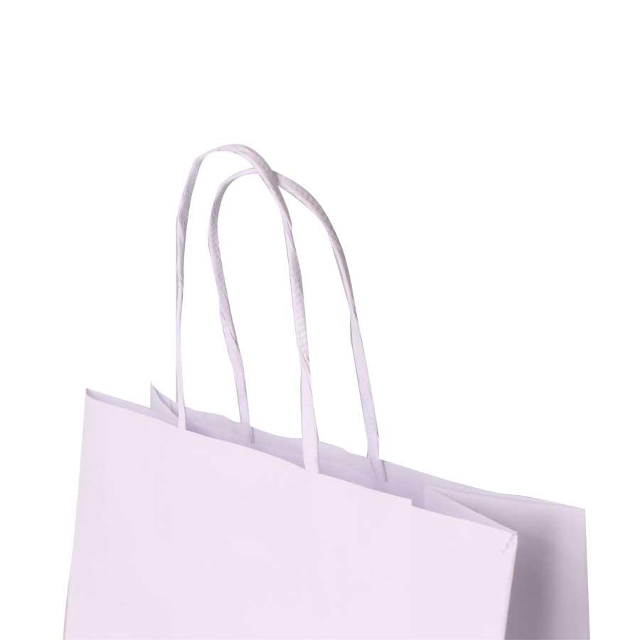 Sacola de Papel para Personalizar Branca 16,5x8x14cm