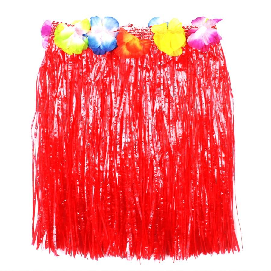 Saia Havaiana Plástica com Flores Coloridas - Infantil