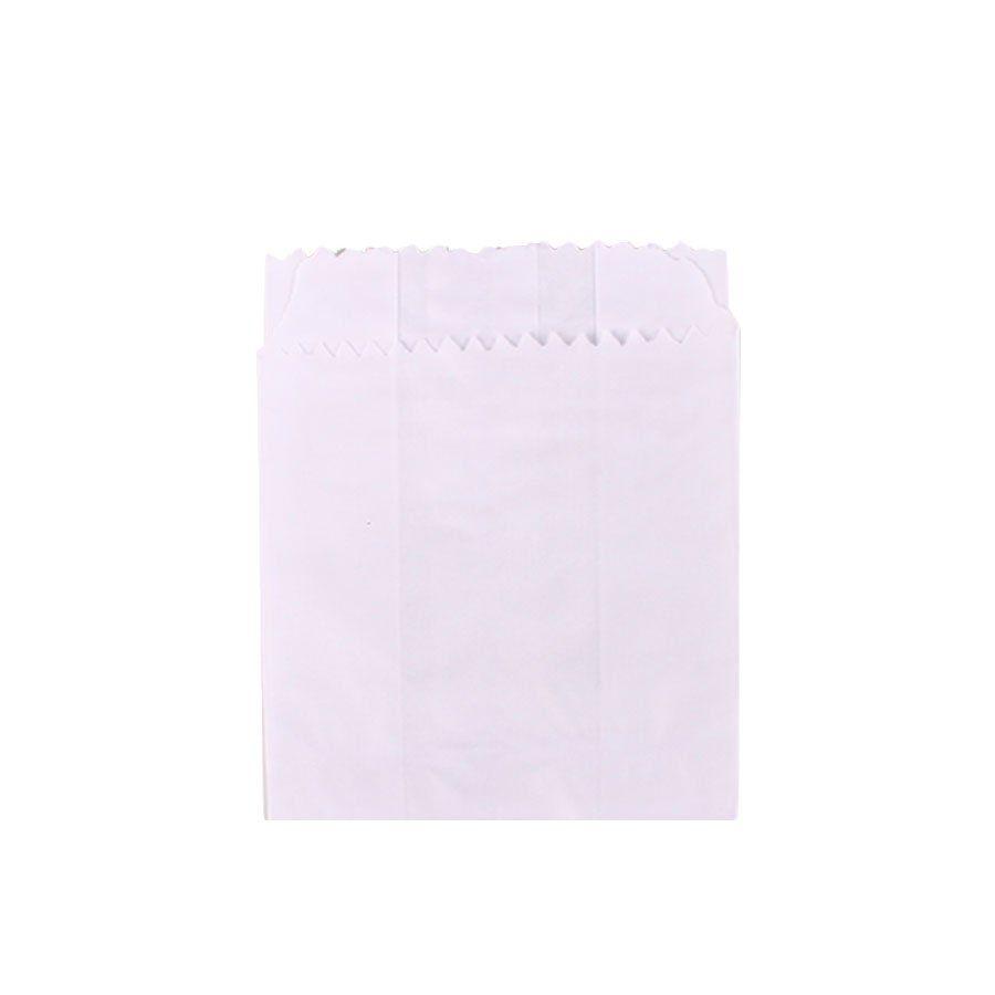 Saquinho de Papel Branco 10,5x14cm com 50 Unidades