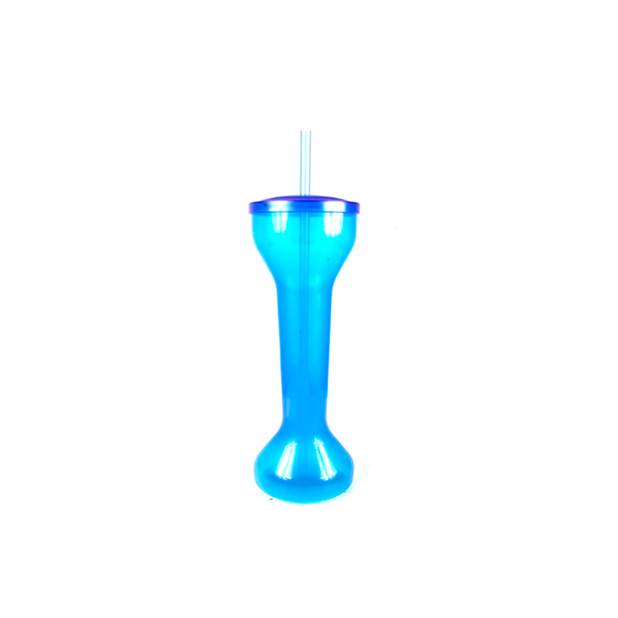 Squeeze Yard Cup Júnior Azul com Tampa e Canudo 550ml