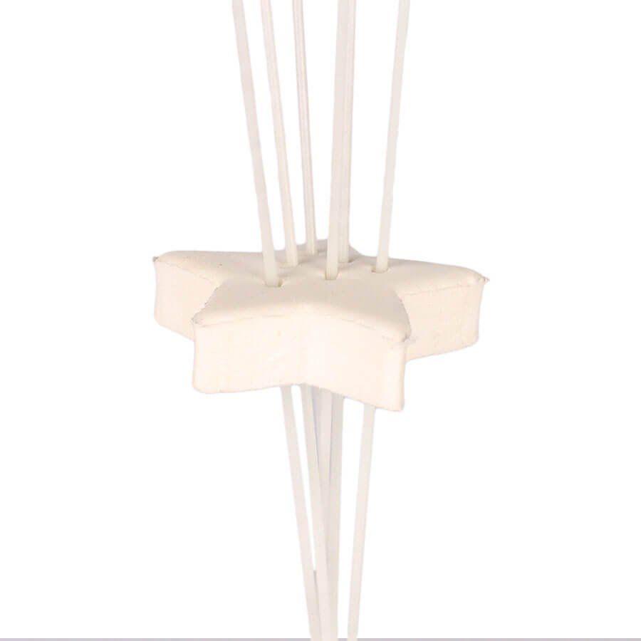 Suporte de Fibra Base Branca 40cm com 6 Hastes