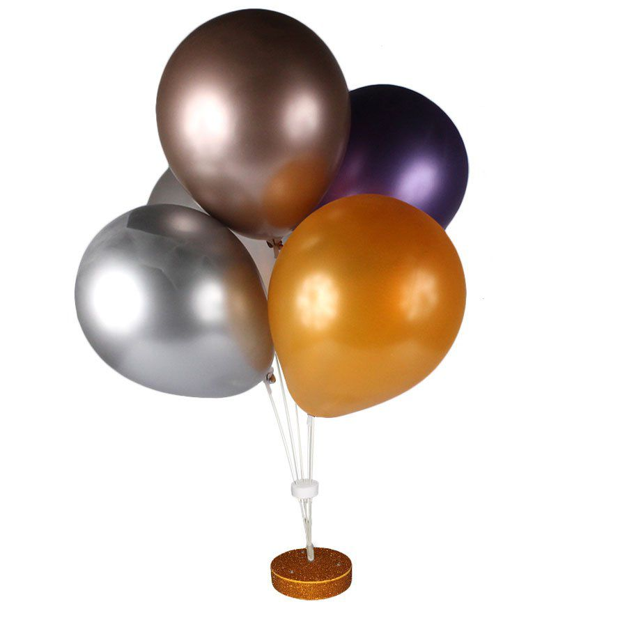 Suporte para Balões em Fibra Dourado com Base Led