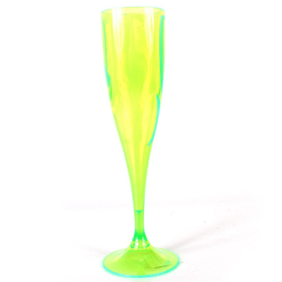 Taça Acrílica Champagne 200Ml Verde Neon