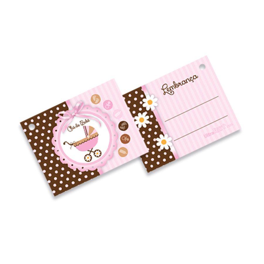 Tag Etiqueta para Lembrancinha Chá de Bebê Menina