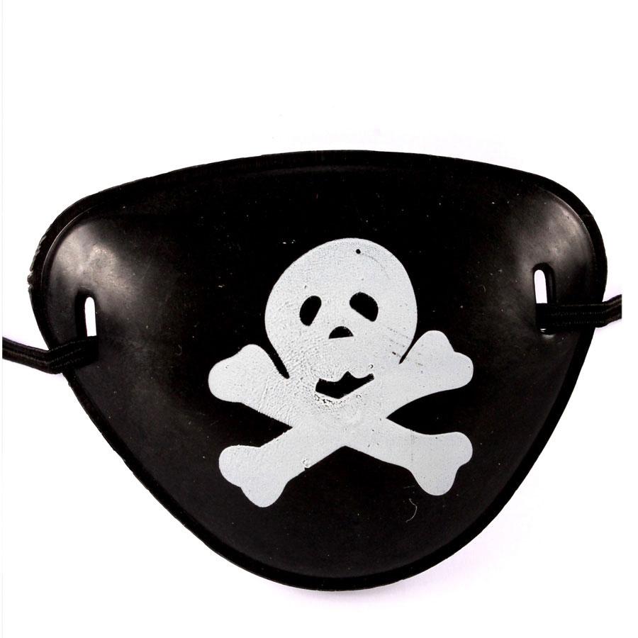 Tapa Olho Pirata com Estampa Caveira