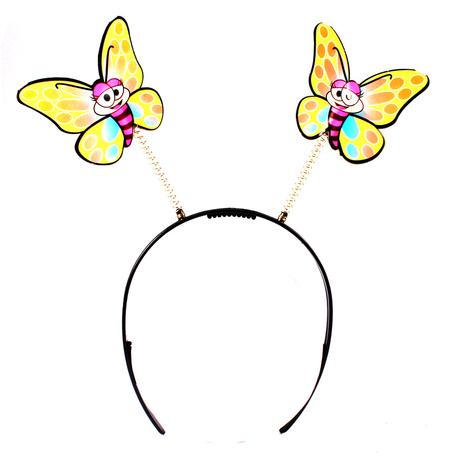 Tiara Borboleta Fluorescente
