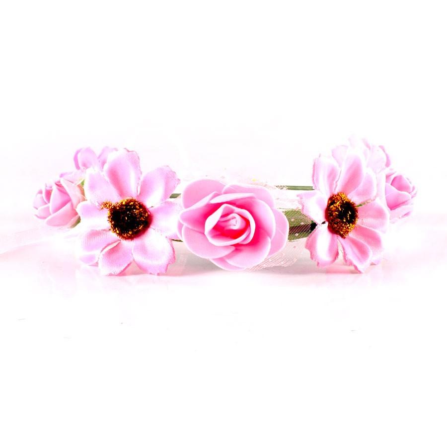 Tiara Com Flores - Cores Sortidas