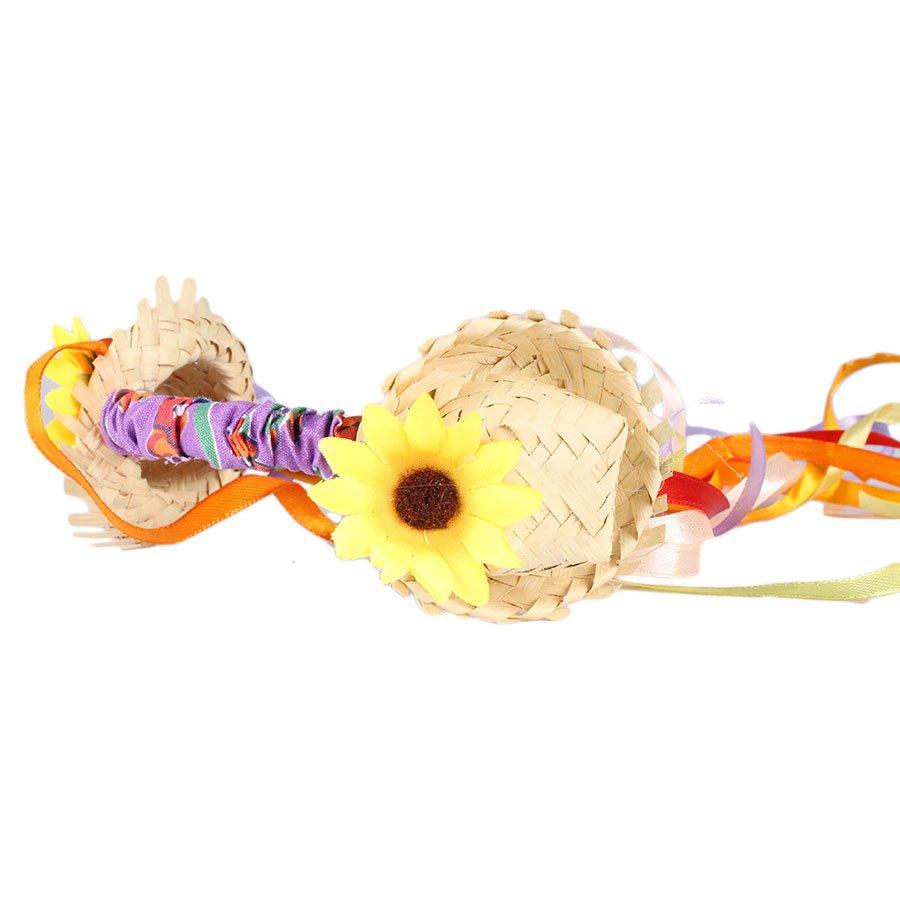 984336ce75730 Tiara de Festa Junina com Mini Chapéus de Palha e Fitilhos - Aluá Festas