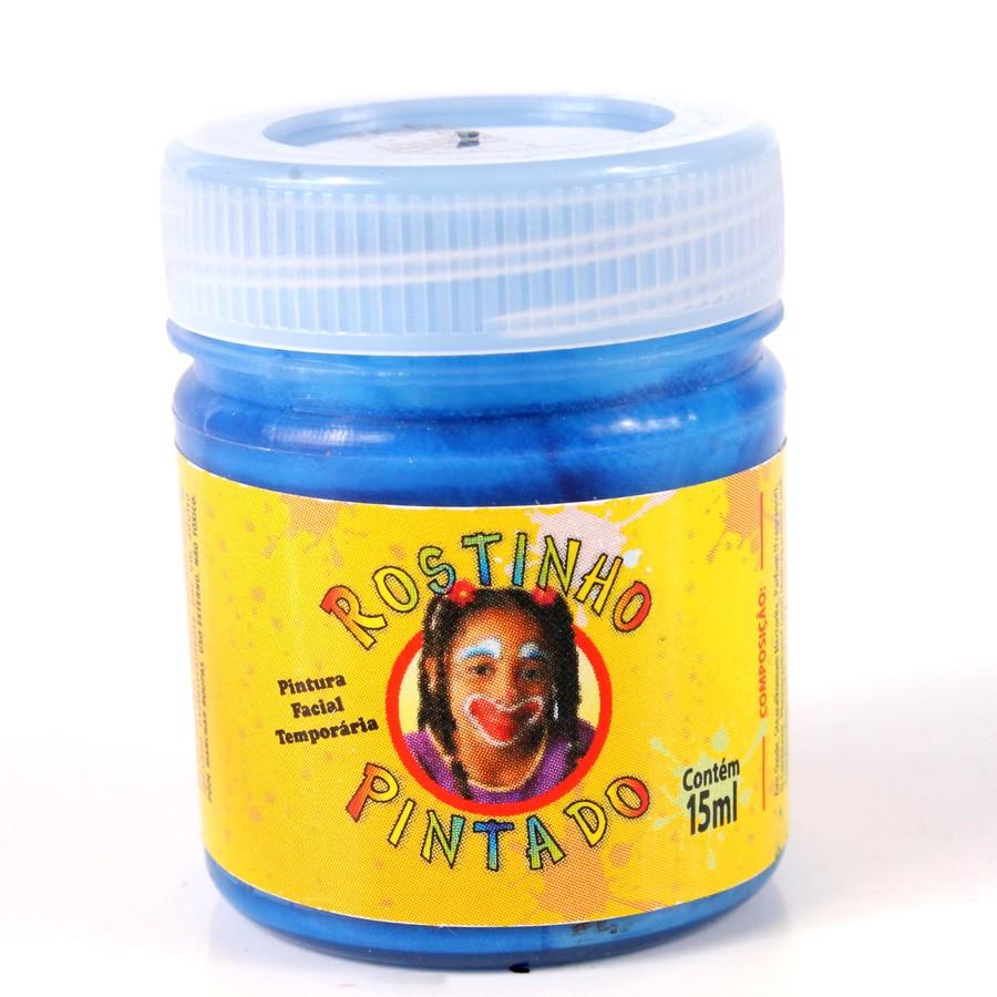 Tinta Facial Para Rosto 15Ml Azul