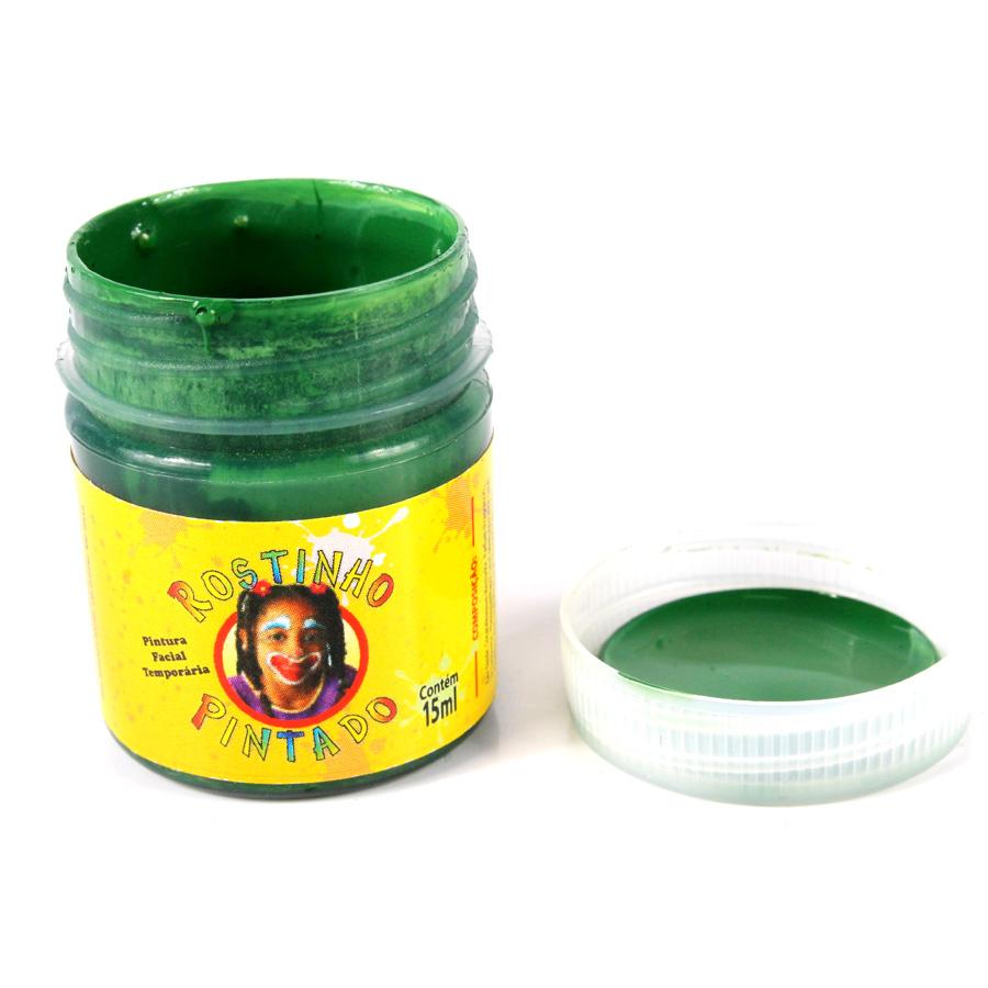 Tinta Facial Verde 15ml Rostinho Pintado