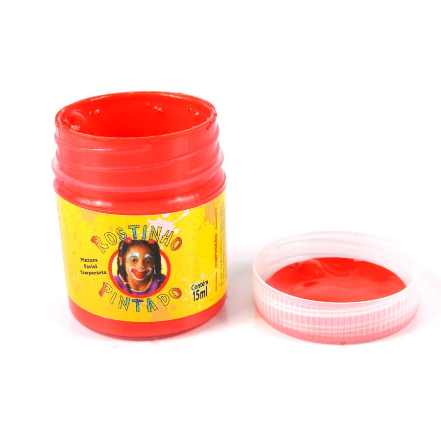 Tinta Facial para Rosto Temporária 15ml Vermelha