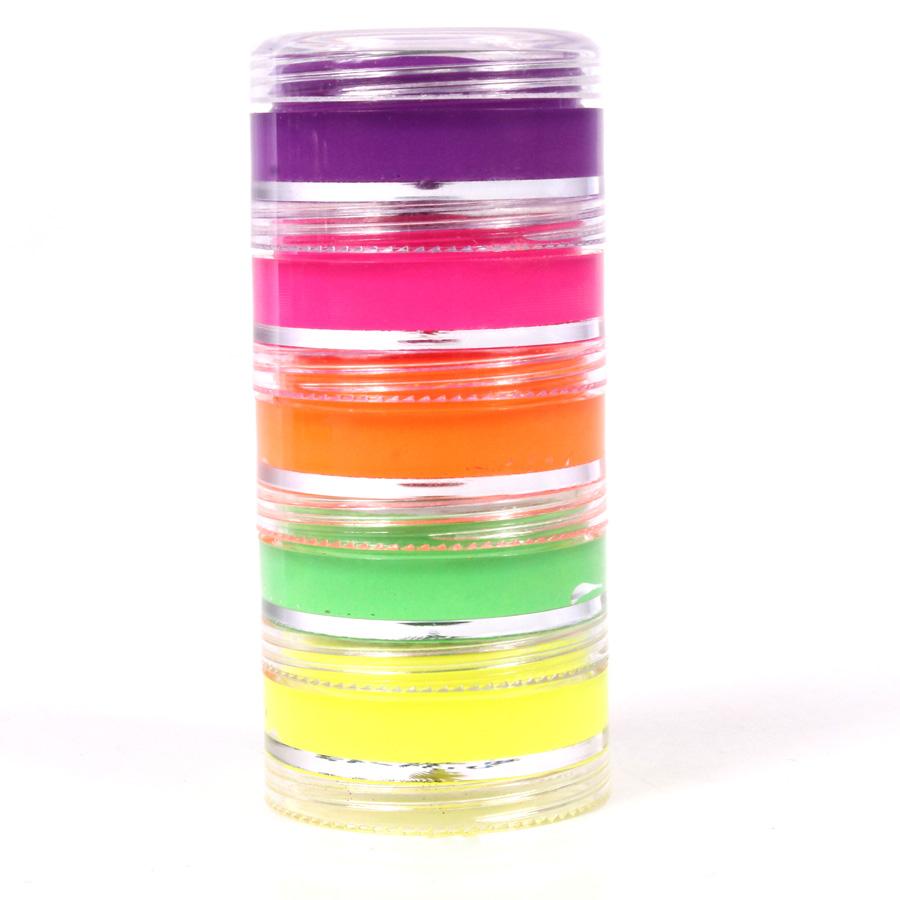 Tinta Facial Neon ( Com 5 Cores )