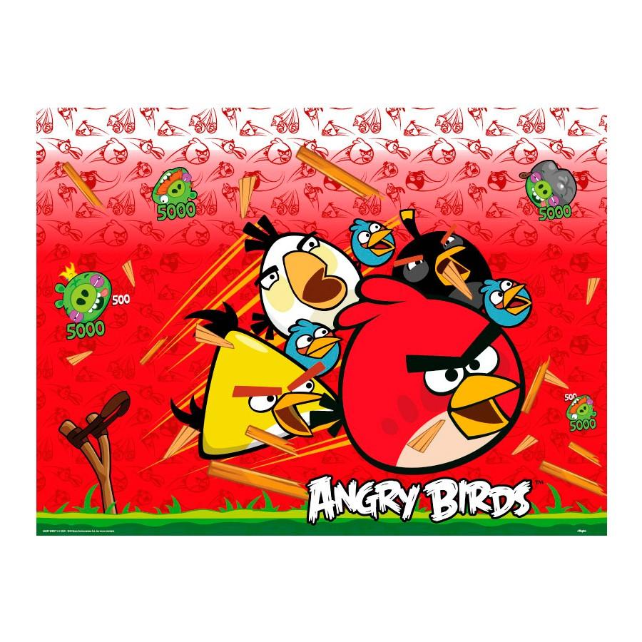 Toalha De Mesa 120X180 Angry Birds Un