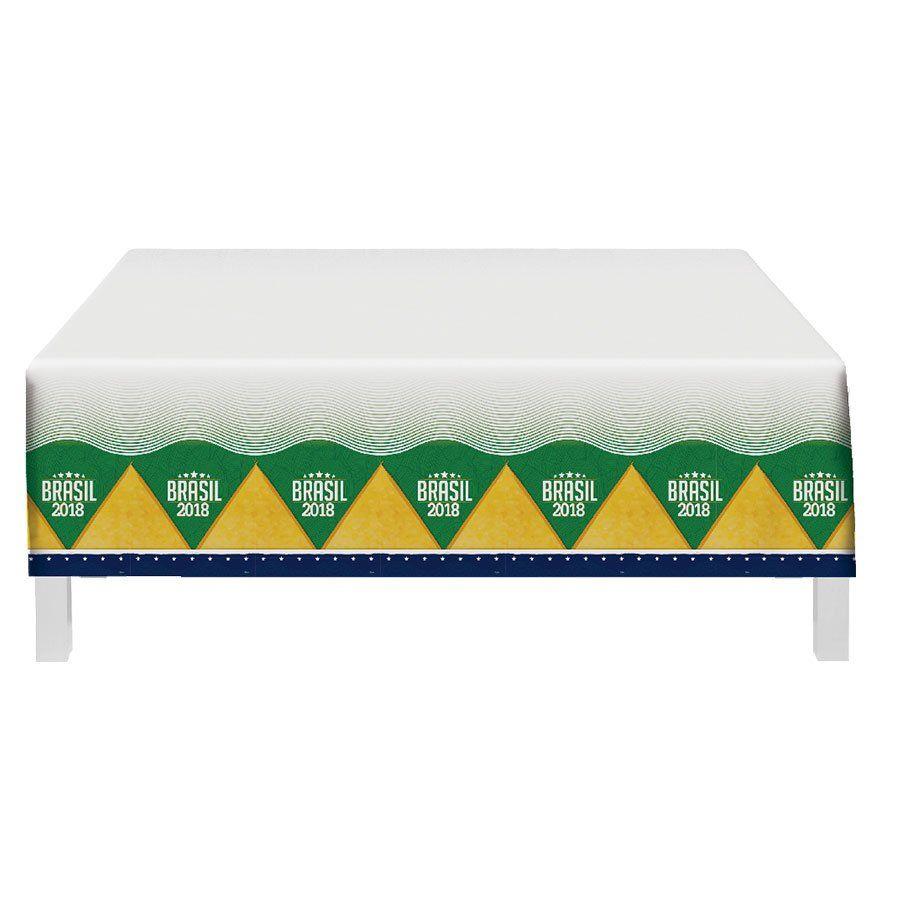 Toalha Plástica de Mesa Brasil 1,20x1,80m