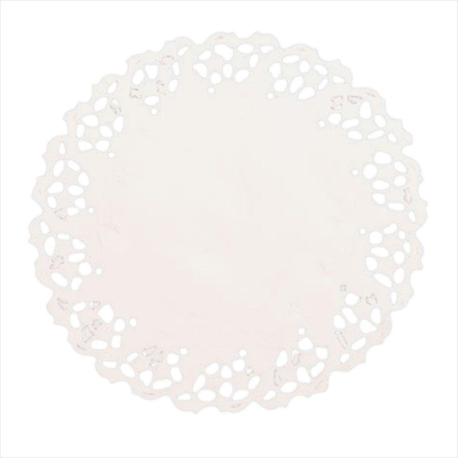 Toalha de Papel Rendada 11cm Branca - 24 unidades