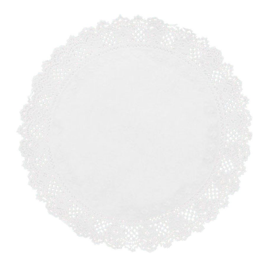Toalha de Papel Rendada 15cm Branca - 24 unidades