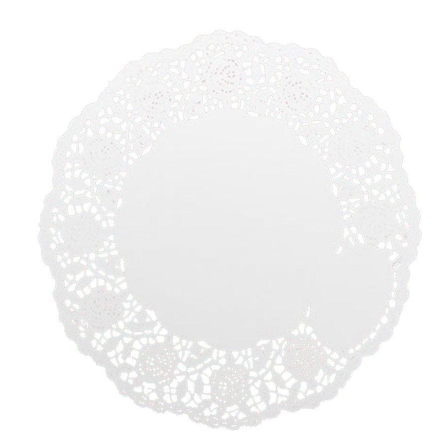 Toalha de Papel Rendada 18cm Branca - 24 unidades