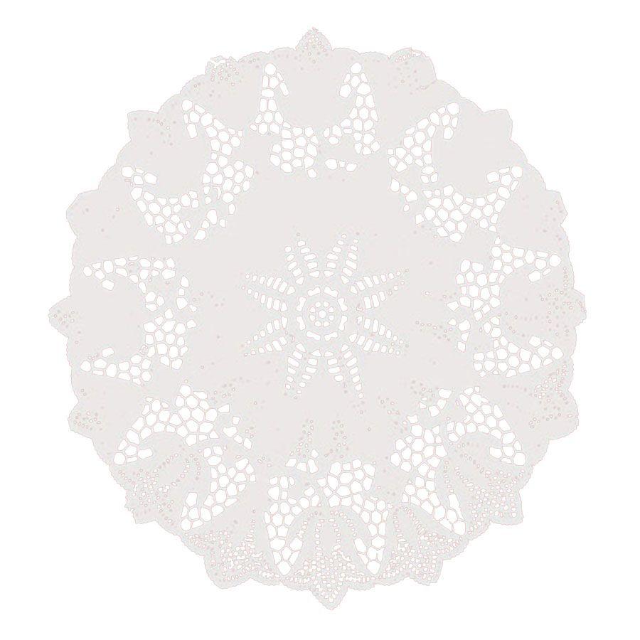 Toalha de Papel Rendada 28cm Branca 10 unidades