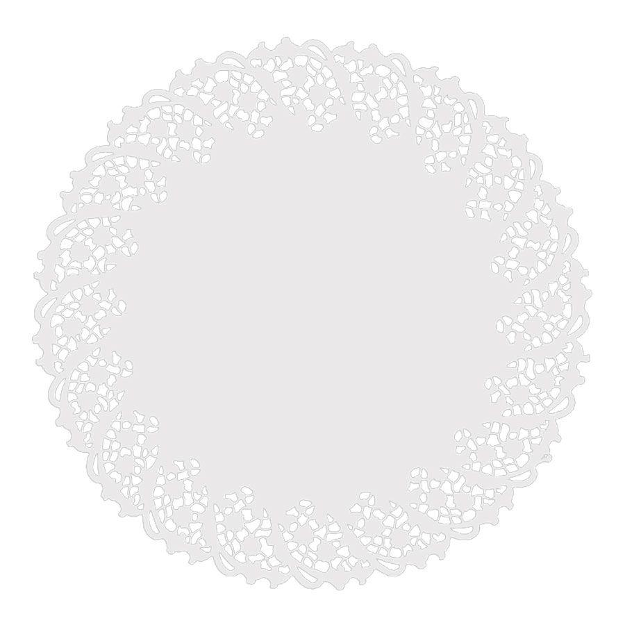 Toalha de Papel Rendada 36cm Branca 6 unidades
