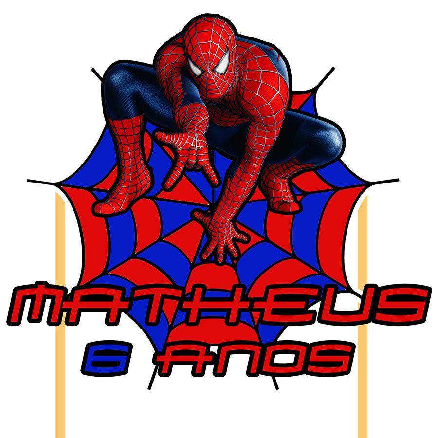 Topo de Bolo Personalizado Homem Aranha