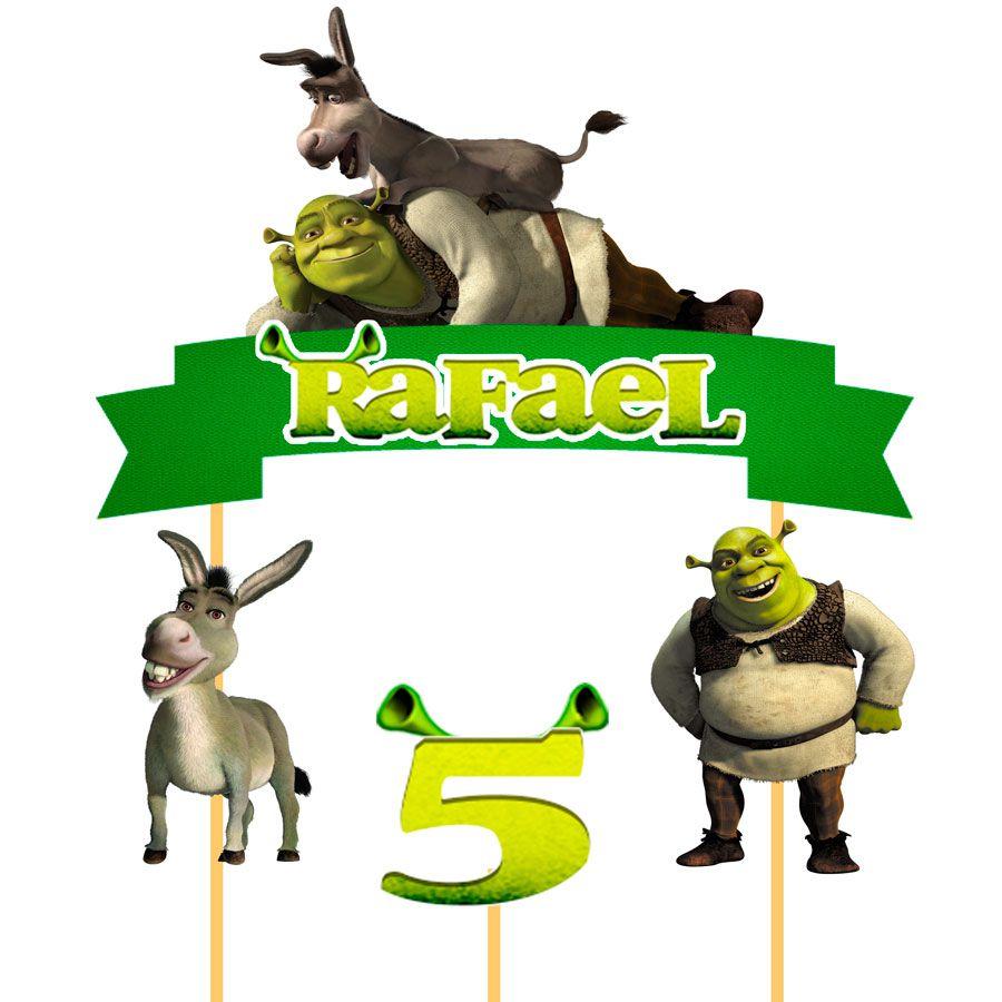 Topo de Bolo Personalizado Shrek