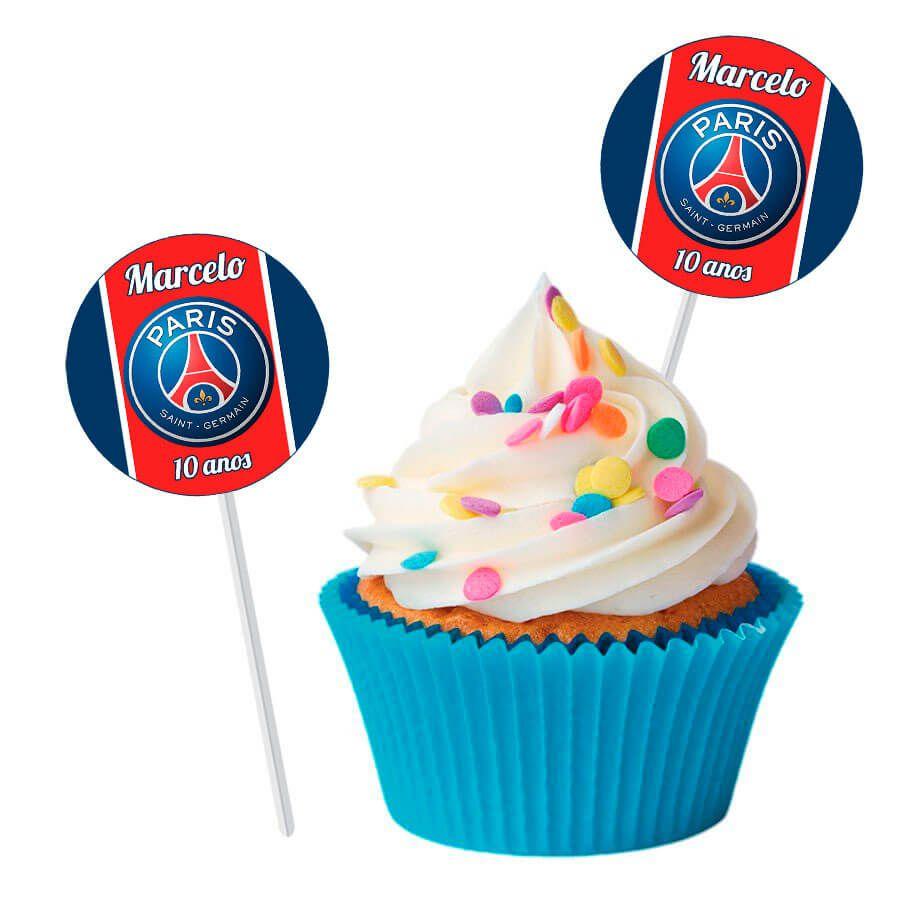 Topper Redondo para Doces Personalizado 15un Paris Saint-Germain