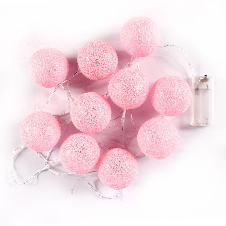 90e60a037 Cordão de Luz Bolas com LED Rosa - 150cm - Aluá Festas