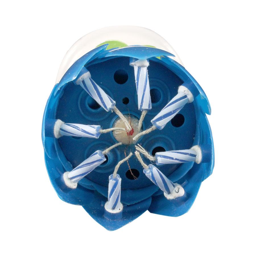 Vela Giratória Flor Azul