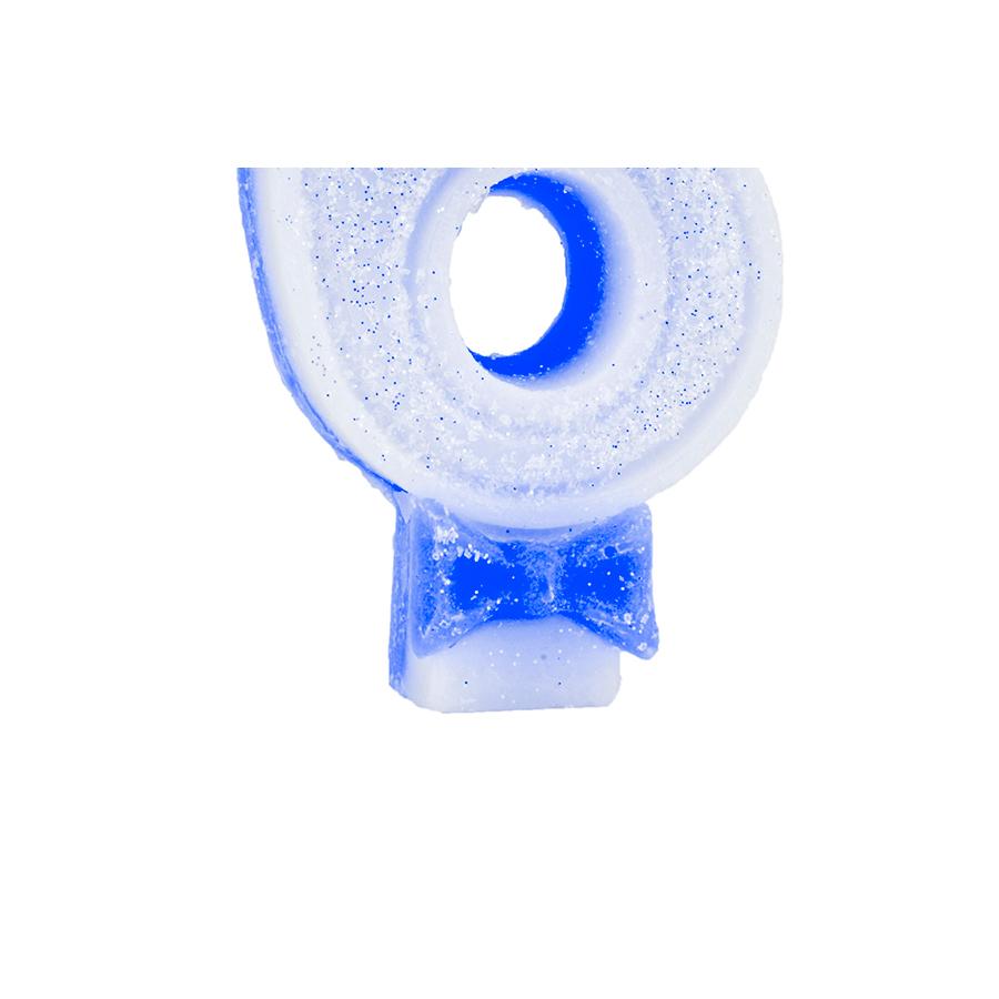 Vela Nº6 Glitter Azul Regina Festas