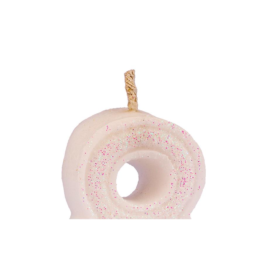 Vela Nº8 Glitter Branca Regina Festas