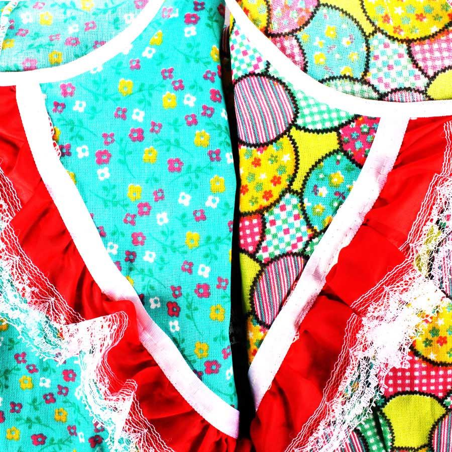 Vestido de Festa Junina Infantil Gracinha Com Bermuda