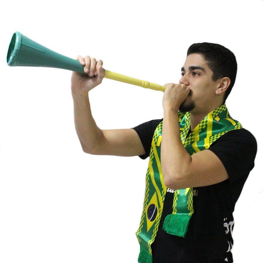 Vuvuzela Verde e Amarela Desmontável Brasil