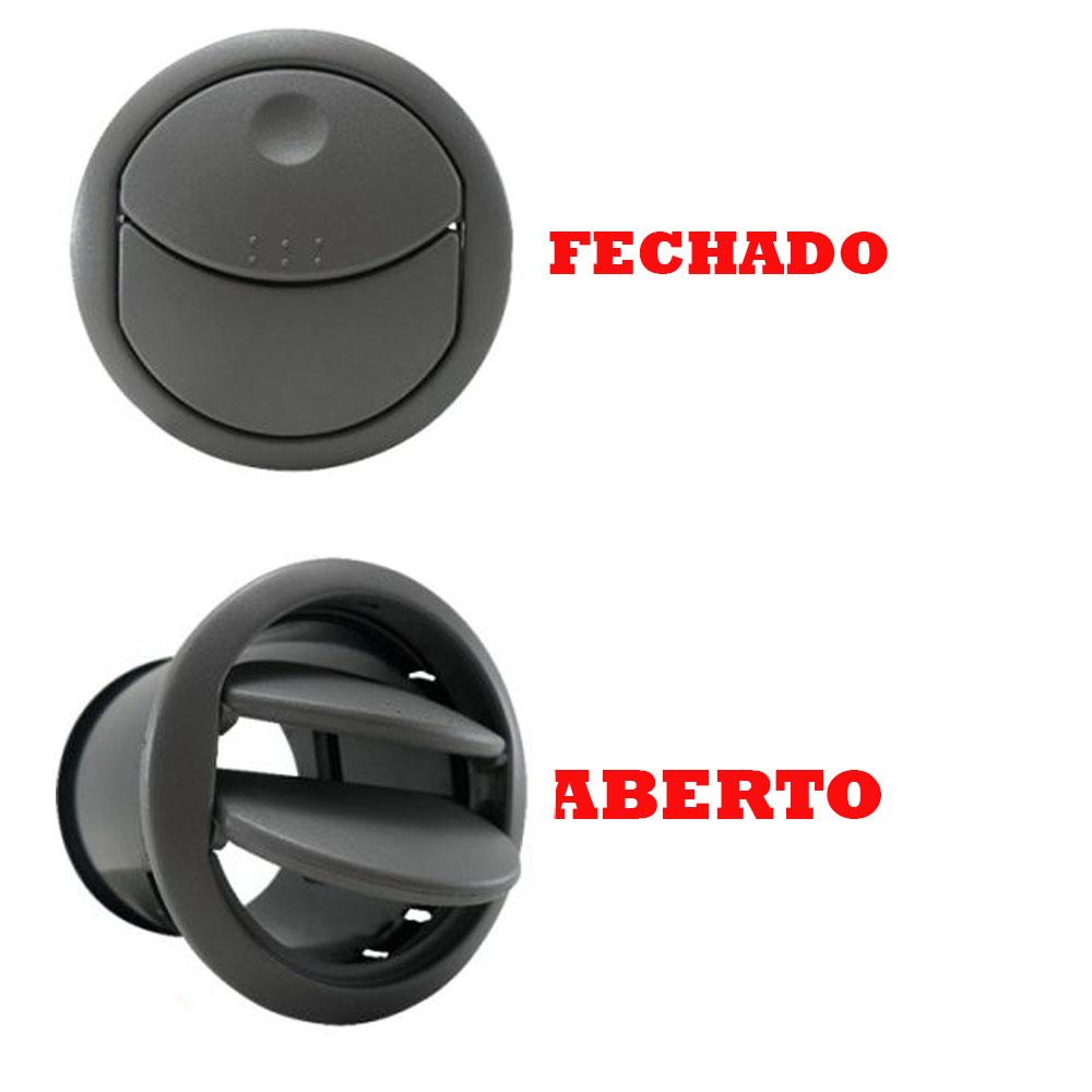 Difusor de Ar Central Cinza Novo Uno 2010 a 2016 Fiorino 2014 a 2016