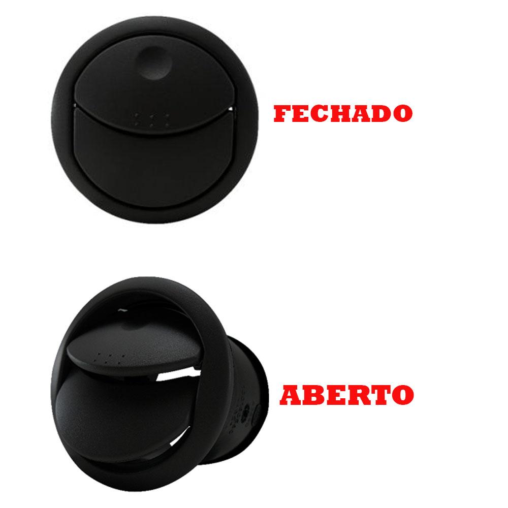 Kit Difusor Ar Central Lateral Preto Novo Uno 2010 a 2016 Fiorino 2014 a 2016