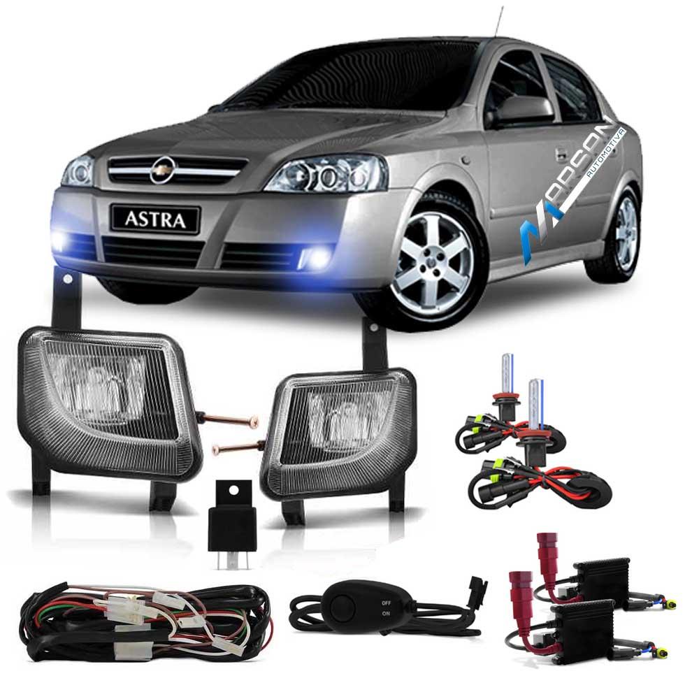 Kit Farol de Milha + Xenon 8000K Astra 2003 a 2012 Zafira 2005 a 2012