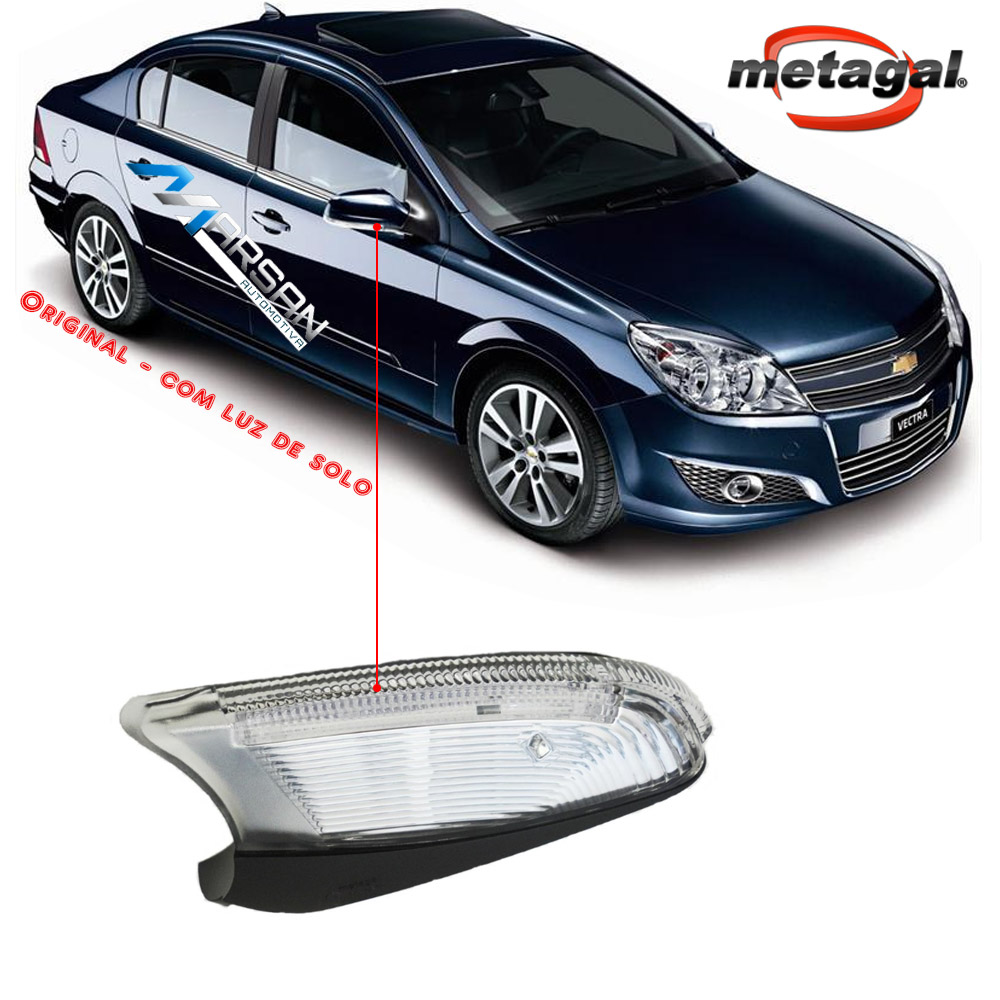 Pisca Seta Retrovisor Vectra Hatch - Sedan 2009 2010 2011 C/ Luz Solo