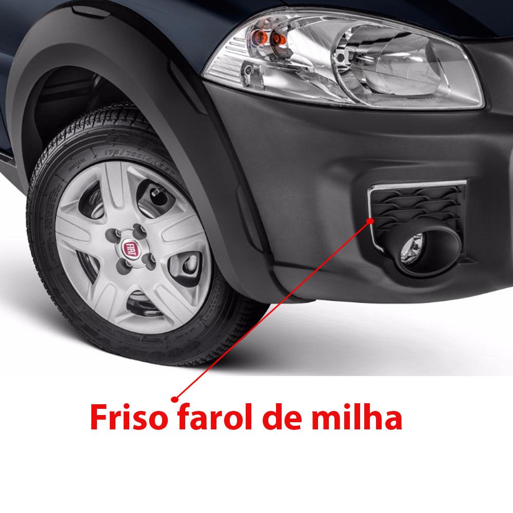 Capa Aplique Cromado para Farol Milha Strada Working 2015 2016
