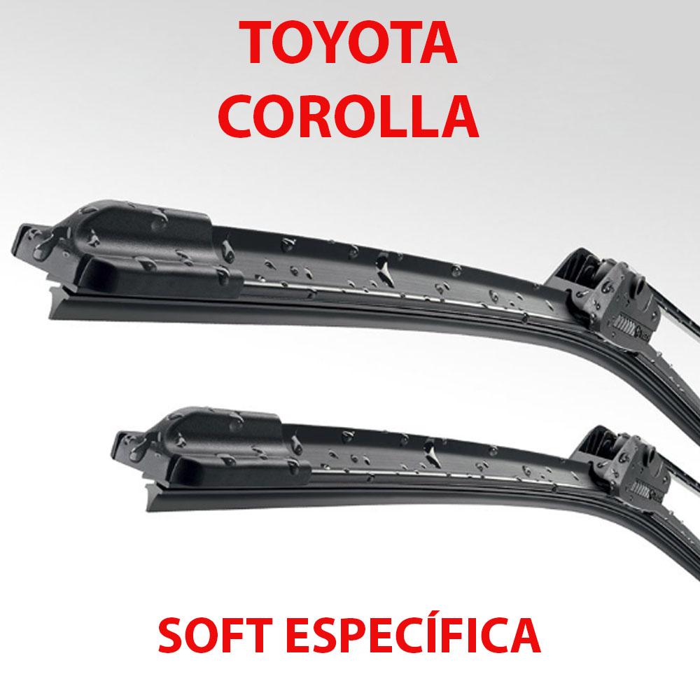 Palheta Soft Limpador Dianteiro Toyota Corolla 2009 até 2014