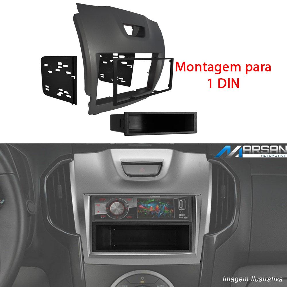 Moldura 1 e 2 DIN Multimidia DVD S10 Blazer 2012 2013