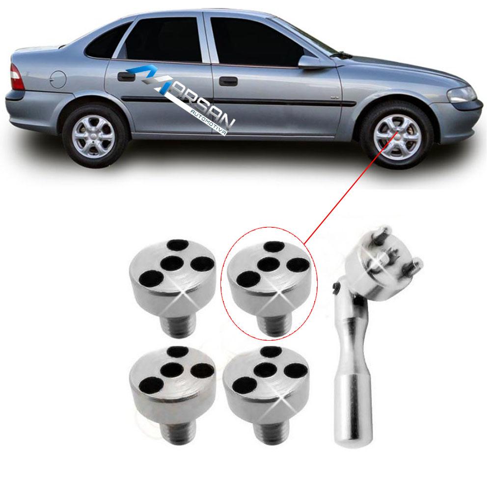 Kit Chave + Parafusos Calota Centro Roda Gm Corsa Vectra Omega