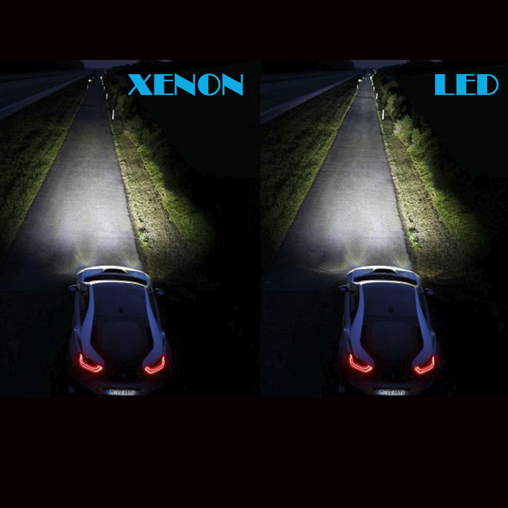 Kit Lampada Led P/ Farol Baixo+Alto+Milha Gol Quadrado Xenon
