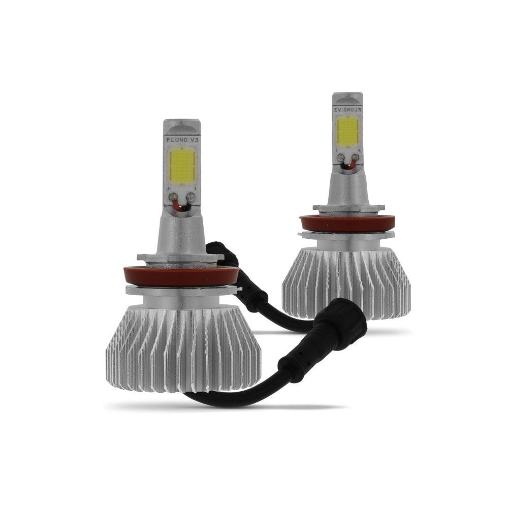 Kit Lampada Led 6000k Para Farol Milha L200 Triton Tp Xenon