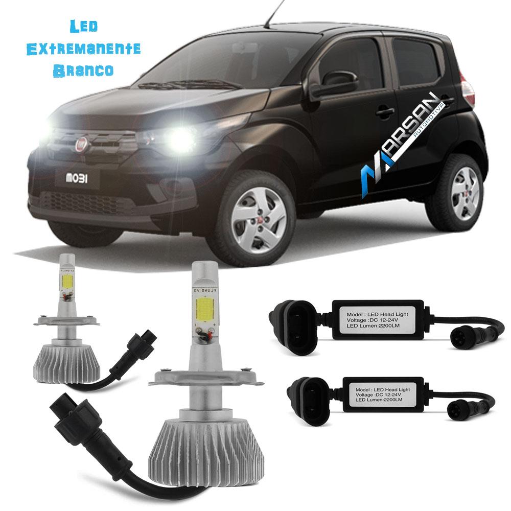 Kit Lampada Led 6000k Para Farol Alto+Baixo MOBI Tipo Xenon