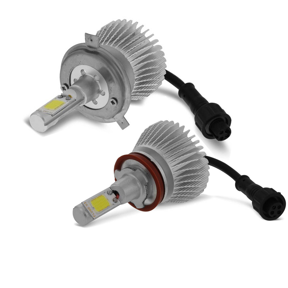 Kit Lampada Led Para Farol Alto+Baixo+Milha MOBI Tipo Xenon