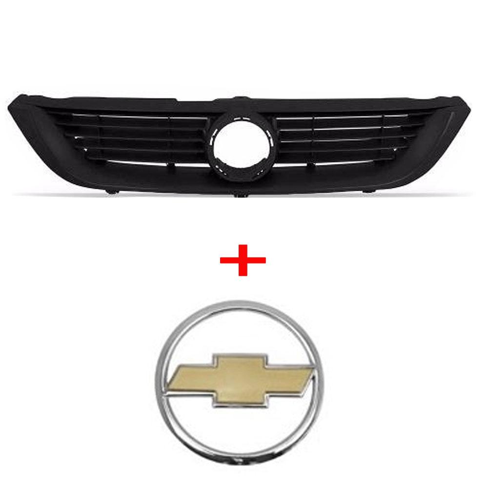 Grade + Emblema Dourado Vectra 99 00 2001 2002 2003 2004 2005