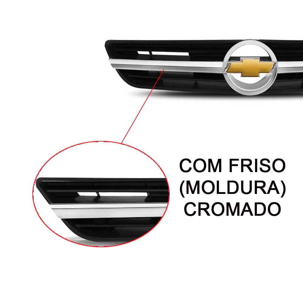 GRADE C/ EMBLEMA + FRISO CROMADO ASTRA HATCH SEDAN 2004 A 2012