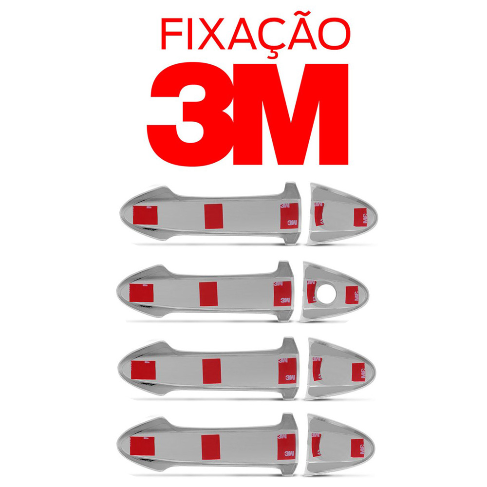 Aplique Cromado Maçaneta Externa Ecosport - New Fiesta 2013 a 2015 KA 2015 2016 (4 Portas)