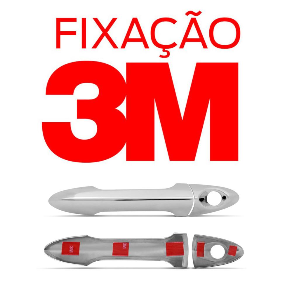 Aplique Cromado Maçaneta Externa HB20 2013 a 2015 HB20s 2013 a 2015 (4 Portas)